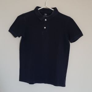Old Navy Navy Blue Button Short Sleeve